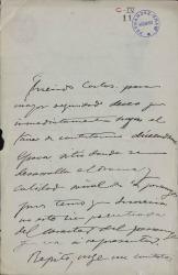 Cartas de Mariano Benlliure a Carlos Fernández Shaw.