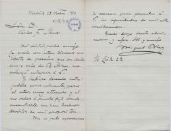 Cartas de Miguel Blas a Carlos Fernández Shaw.