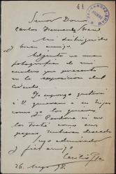 Cartas de Cecilio Pla a Carlos Fernández Shaw.
