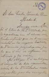 Cartas de Pablo López a Carlos Fernández Shaw.