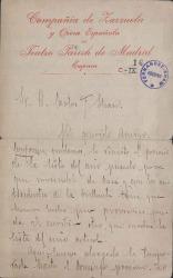 Cartas de Manuel Figueras a Carlos Fernández Shaw.