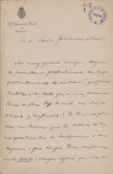 Cartas de Valentín Gómez a Carlos Fernández Shaw.