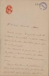 Cartas de Emilio Sánchez Pastor a Carlos Fernández Shaw.