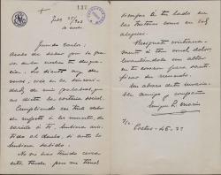 Cartas de Enrique López Marín a Carlos Fernández Shaw.