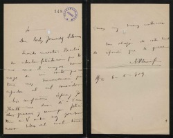 Cartas de A. Blanco a Carlos Fernández Shaw.