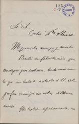 Cartas de Antonio Domínguez a Carlos Fernández Shaw y Cecilia Iturralde, su esposa.