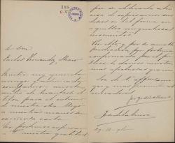 Cartas de Jorge y José de la Cueva a Carlos Fernández Shaw.