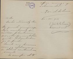 Cartas de José de la Cueva a Carlos Fernández Shaw.