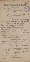 Cartas de Manuel Fernández de la Puente a Carlos Fernández Shaw.