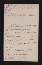 Cartas de Pedro de Novo y Colsón a Carlos Fernádez Shaw.
