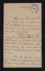 Cartas de Carlos Arniches a Carlos Fernández Shaw y Cecilia Iturralde, su esposa.