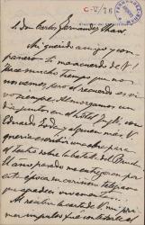 Cartas de Ángel Guimerá a Carlos Fernández Shaw.