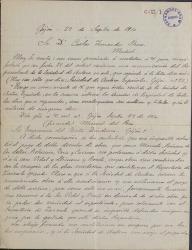 Cartas de Lorenzo Simonetti y otros cantantes a Carlos Fernández Shaw.
