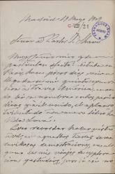 Cartas de Emilia Serrano, Baronesa de Wilson, a Carlos Fernández Shaw.