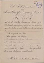 Cartas de Julián Juderías a Carlos Fernández Shaw.