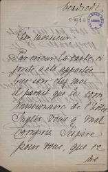 Cartas, en francés, de Paul Belver a Carlos Fernández Shaw.