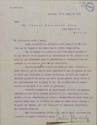 Cartas de Agustín Edwards a Carlos Fernández Shaw.