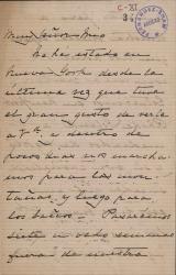 Cartas de Irving Grinell a Carlos Fernández Shaw.