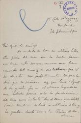 Cartas de Arthur E. Houghton a Carlos Fernández Shaw.