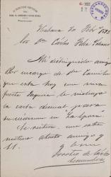 Cartas de Doroteo de Carlos Lecumberre a Carlos Fernández Shaw.