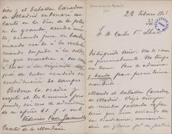 Cartas del Teniente Coronel Federico Paez Jaramillo a Carlos Fernández Shaw.