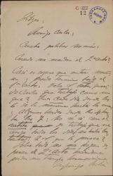 Cartas de Enrique Morera a Carlos Fernández Shaw.