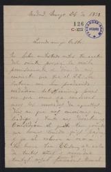 Cartas de Rafael Díaz Albertini a Casto ¿Iturralde?.