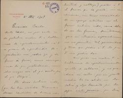 Cartas de Vicente Arregui a Carlos Fernández Shaw.