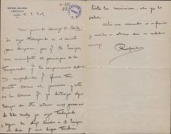 Cartas de Rafael Calleja a Carlos Fernández Shaw.