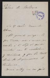 Cartas de Miguel Marqués a Carlos Fernández Shaw.