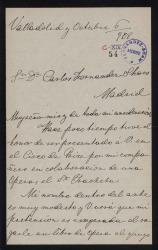 Cartas de Jacinto R. Manzanares a Carlos Fernández Shaw.