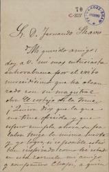 Cartas de Ángel Rubio a Carlos Fernández Shaw.