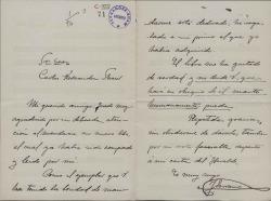 Cartas de José Serrano a Carlos Fernández Shaw.