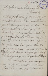 Cartas de Valentín Zubiaurre a Carlos Fernández Shaw.