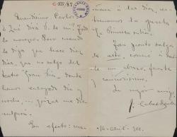 Cartas de José Cabas Quiles a Carlos Fernández Shaw y Cecilia Iturralde, su esposa.