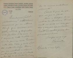 Cartas de Pedro Mata a Carlos Fernández Shaw.