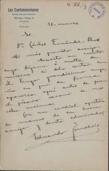 Cartas de Eduardo Zamacois a Carlos Fernández Shaw.