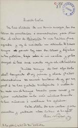 Cartas de Alfonso Pérez Nieva a Carlos Fernández Shaw