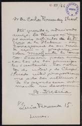 Cartas de Alberto Insúa a Carlos Fernández Shaw.