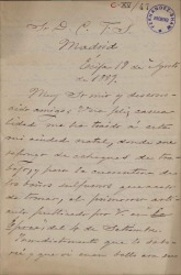 Cartas de Benito Mas y Prat a Carlos Fernández Shaw.