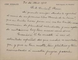 Cartas de José Nogales a Carlos Fernández Shaw.