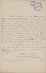 Cartas de Antonio Casero a Carlos Fernández Shaw.