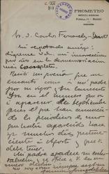Cartas de Ramón Gómez de la Serna a Carlos Fernández Shaw.