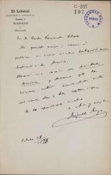 Cartas de Miguel Moya a Carlos Fernández Shaw.