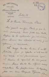 Cartas de Domingo Blanco a Carlos Fernández Shaw.