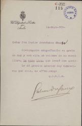 Cartas de Salvador Canal a Carlos Fernández Shaw.