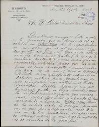Cartas de Benito Marín a Carlos Fernández Shaw.