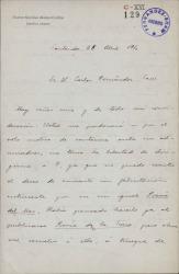 Cartas de Narciso Alonso Cortés a Carlos Fernández Shaw y Cecilia Iturralde, su esposa.