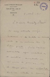 Cartas de Eduardo López Chavarri a Carlos Fernández Shaw.