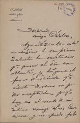 Cartas de Mariano de Cavia a Carlos Fernández Shaw.